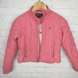 Ariat Girls size Medium Pink Quilted Zip Up Jacket